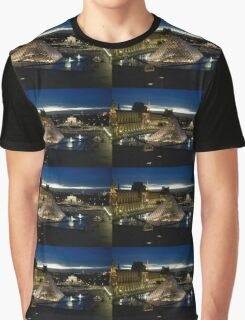 Paris - Louvre Pyramid at Night Graphic T-Shirt