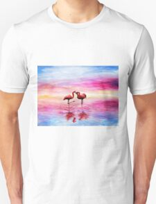 Flamingo love Unisex T-Shirt