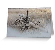 Wintery antiques Greeting Card
