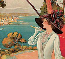 Vintage Antibes French Riviera Cote d'Azur ad Sticker