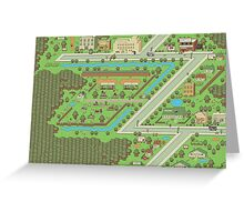 Twoson - Earthbound - Nintendo SNES RPG game Greeting Card