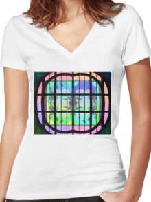 Psychedelic Marilyn Monroe Women's Fitted V-Neck T-Shirt