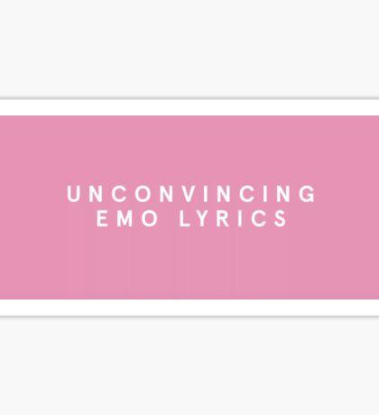 Unconvincing Emo Lyrics The 1975 Sticker
