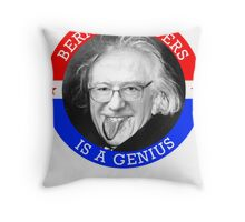 Bernie Sanders is a Genious Throw Pillow