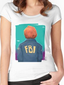 f b i Women's Fitted Scoop T-Shirt