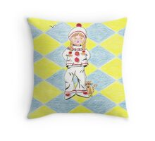 Fille en Pierrot 2 Throw Pillow