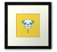 Pugsicle  Framed Print