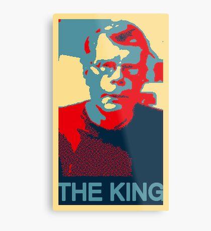 The King: Stephen King Metal Print
