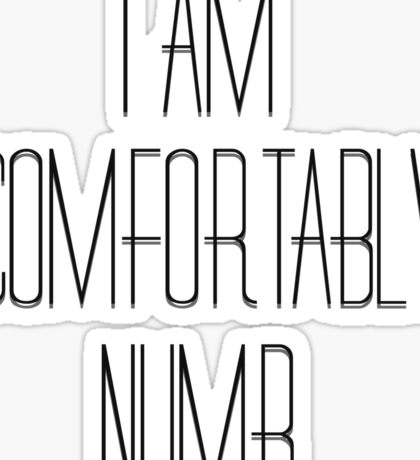 Pink Floyd Music Song Lyrics Comfortably Numb 70s Rock Sticker