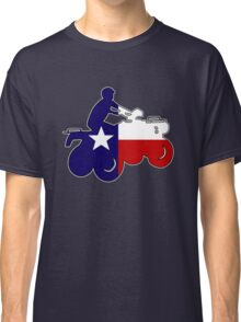 Texas flag ATV rider Classic T-Shirt