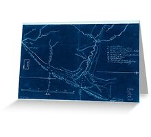 American Revolutionary War Era Maps 1750-1786 593 Map of the coast of New Jersey from Barnegat Inlet to Cape May Inverted Greeting Card