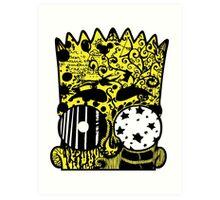 Bart Graffitis Art Print