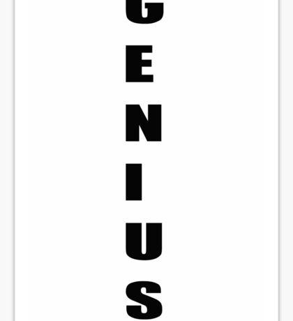 Genius work smart business  Sticker