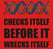 DNA Checks Wrecks One Piece - Long Sleeve