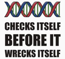DNA Checks Wrecks One Piece - Short Sleeve