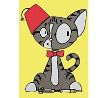 fez cat Photographic Print