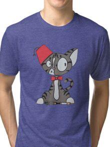 fez cat Tri-blend T-Shirt
