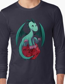 D&D - Dragons and Dice! (Green Dragon) Long Sleeve T-Shirt
