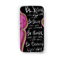 Be BRAVE Breast Cancer Samsung Galaxy Case/Skin