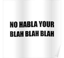 Habla Blah Blah Poster