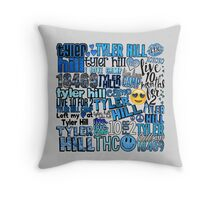 Tyler Hill Words Collage Throw Pillow