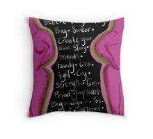 Survivor mind breast cancer Throw Pillow