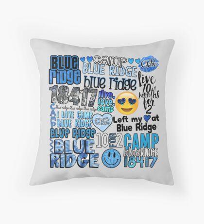 Blue Ridge Words Collage Throw Pillow