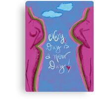 Your new day as a survivor of breast cancer  Canvas Print