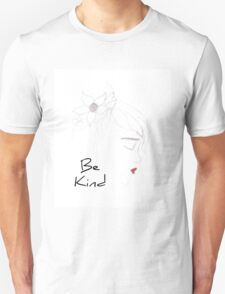 Kind boho chic girl red lips with text Unisex T-Shirt