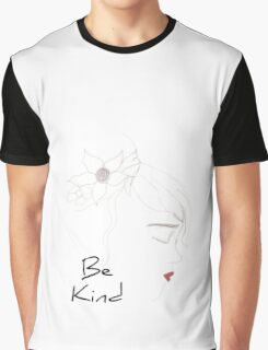 Kind boho chic girl red lips with text Graphic T-Shirt