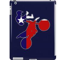 Texas flag dirtbiker iPad Case/Skin