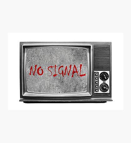 Сoncrete TV (no signal) Photographic Print