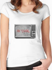 Сoncrete TV (no signal) Women's Fitted Scoop T-Shirt