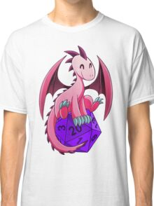 D&D - Dragons and Dice! (Pink Dragon) Classic T-Shirt