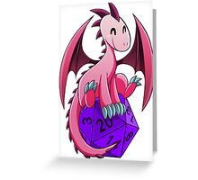 D&D - Dragons and Dice! (Pink Dragon) Greeting Card