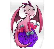 D&D - Dragons and Dice! (Pink Dragon) Poster