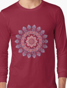 Floral Greek ornament Meander Long Sleeve T-Shirt
