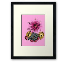 Warrior for breast cancer Framed Print