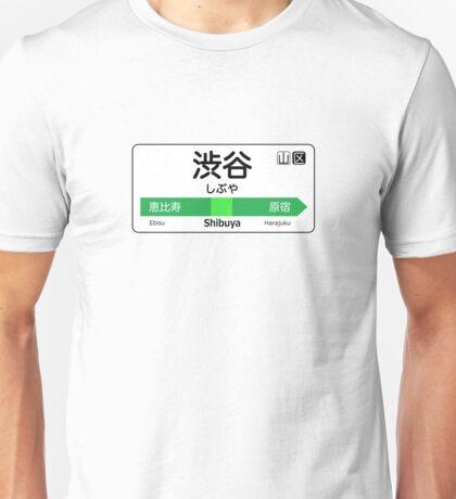 Shibuya Train Station Sign Unisex T-Shirt