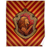 Hogwarts House Crest - Gryffindor Lion Poster