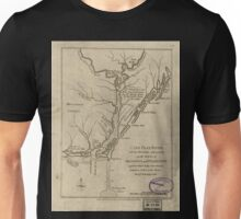 American Revolutionary War Era Maps 1750-1786 360 Cape Fear River with the counties adjacent and the towns of Brunswick and Wilmington against which Lord Unisex T-Shirt