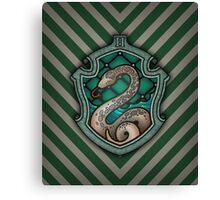 Hogwarts House Crest - Slytherin Snake Canvas Print