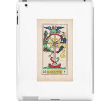 X. La Roue de Fortune (The Wheel of Fortune) iPad Case/Skin