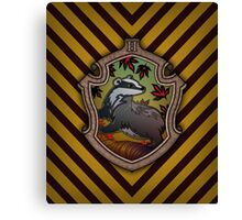 Hogwarts House Crest - Hufflepuff Badger Canvas Print