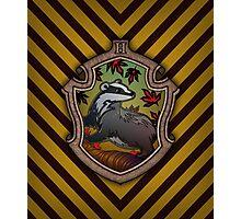Hogwarts House Crest - Hufflepuff Badger Photographic Print