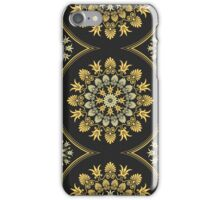 Gold Greek ornament and floral pattern iPhone Case/Skin