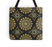 Gold Greek ornament and floral pattern Tote Bag