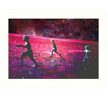 RUN ON MARS Art Print