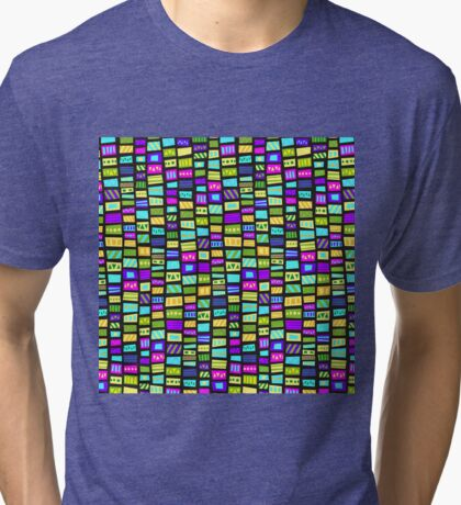 happy bright colorfull mosaic Tri-blend T-Shirt