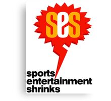 SES Podcast - Sports Entertainment Shrinks Canvas Print